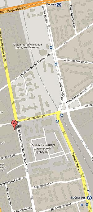 Карта проезда в ПланТайм